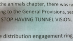 STOP HAVING TUNNEL VISION