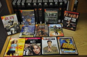 A selection of the DVDs available in the Leisure Collection.