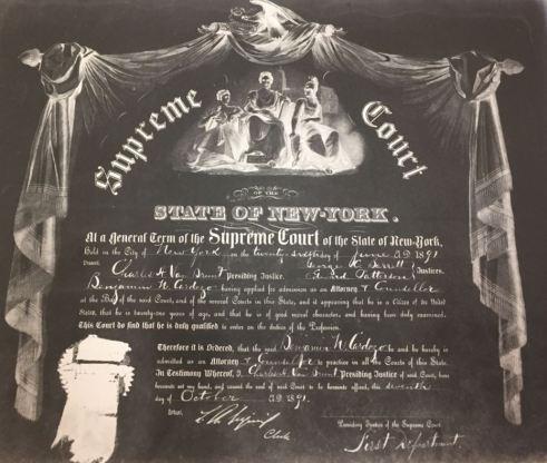 Cardozo Certificate