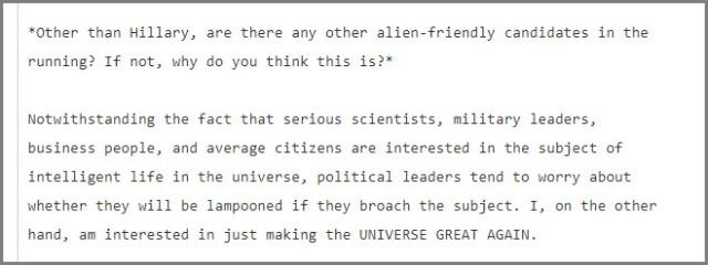 Podesta Alien Email